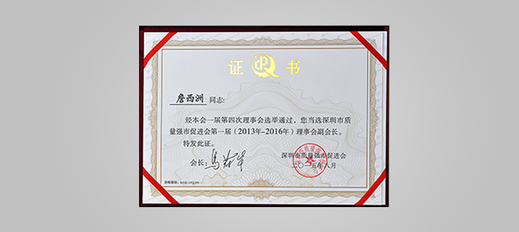 深圳市质量强市促进会副会长单位